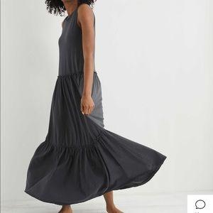 NWT Aerie tiered cotton maxie dress SZ S/P slate
